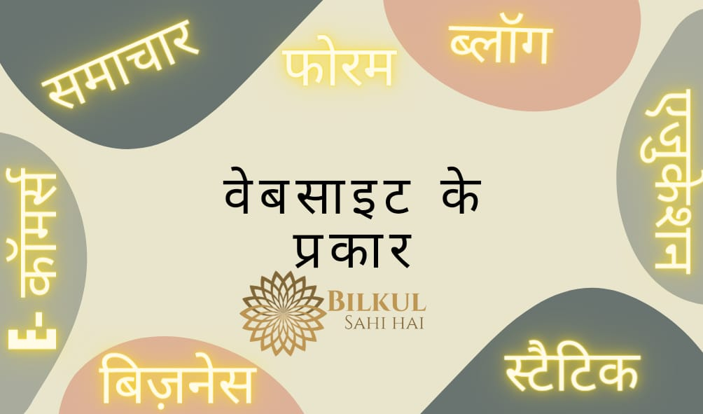 Types Of Website in Hindi